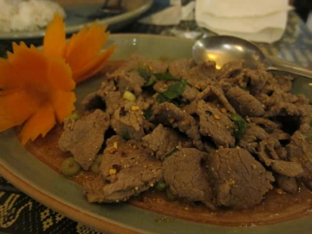 Larb Nua (Jackie Chan's favorite beef dish)
