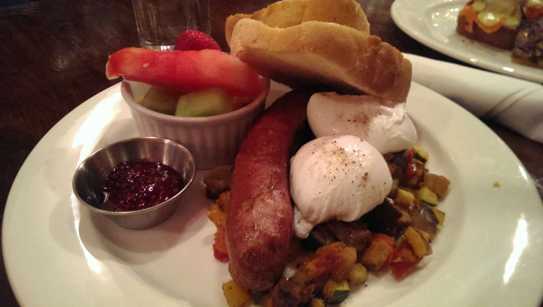 Spicy Italian Sausage and poached Eggs