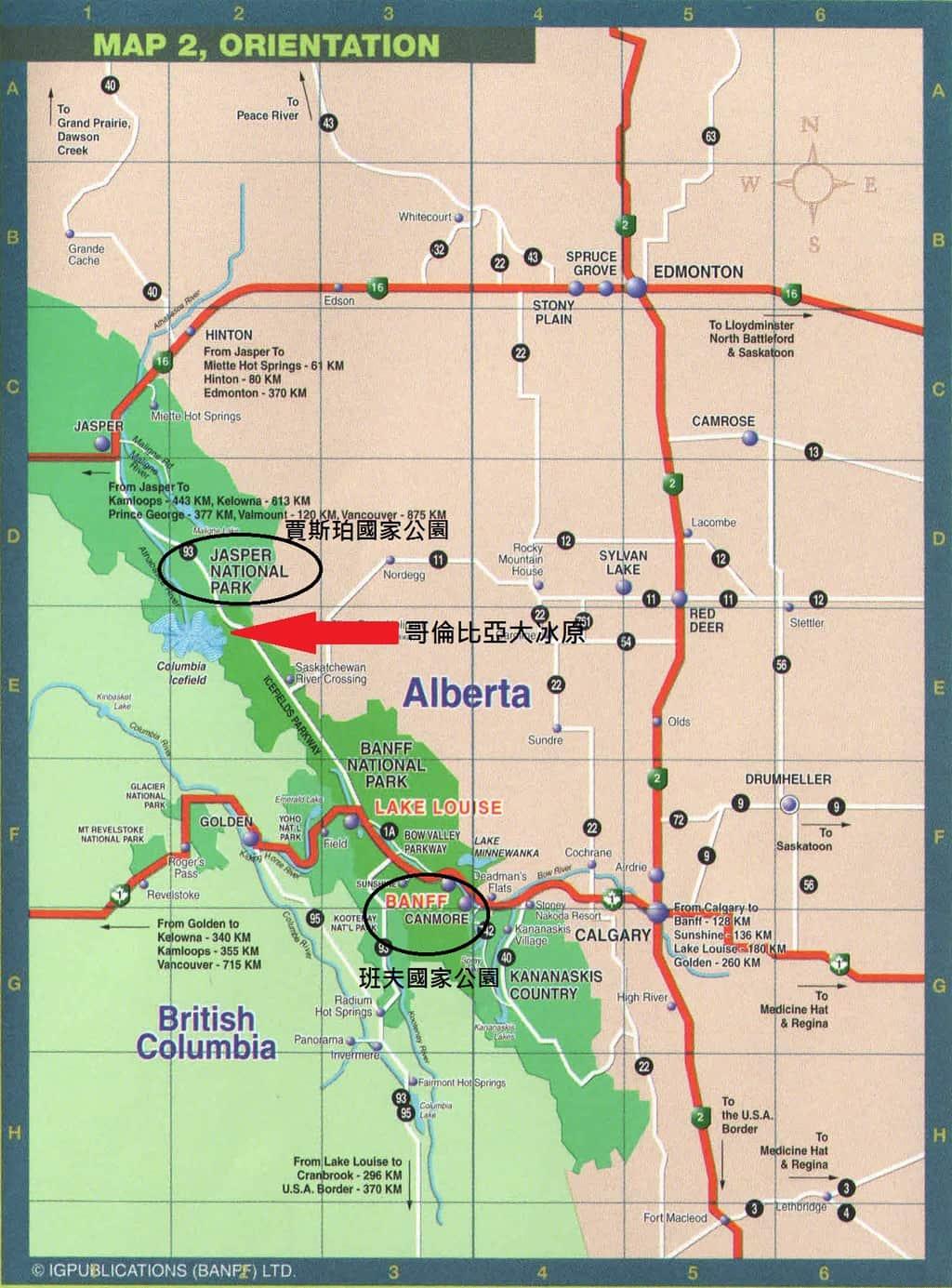 alberta map