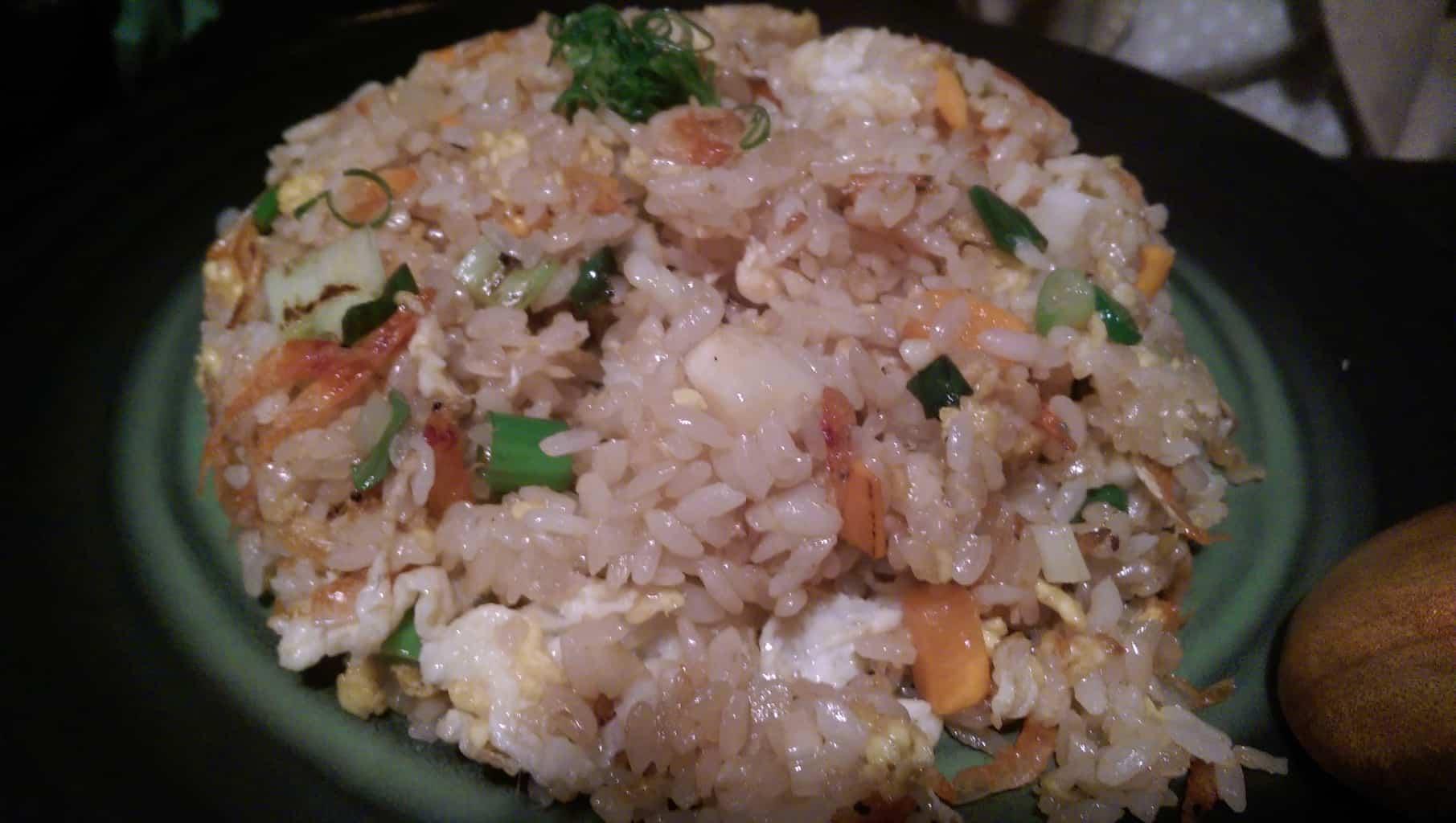 Sergestid shrimp fried rice (NT$180)