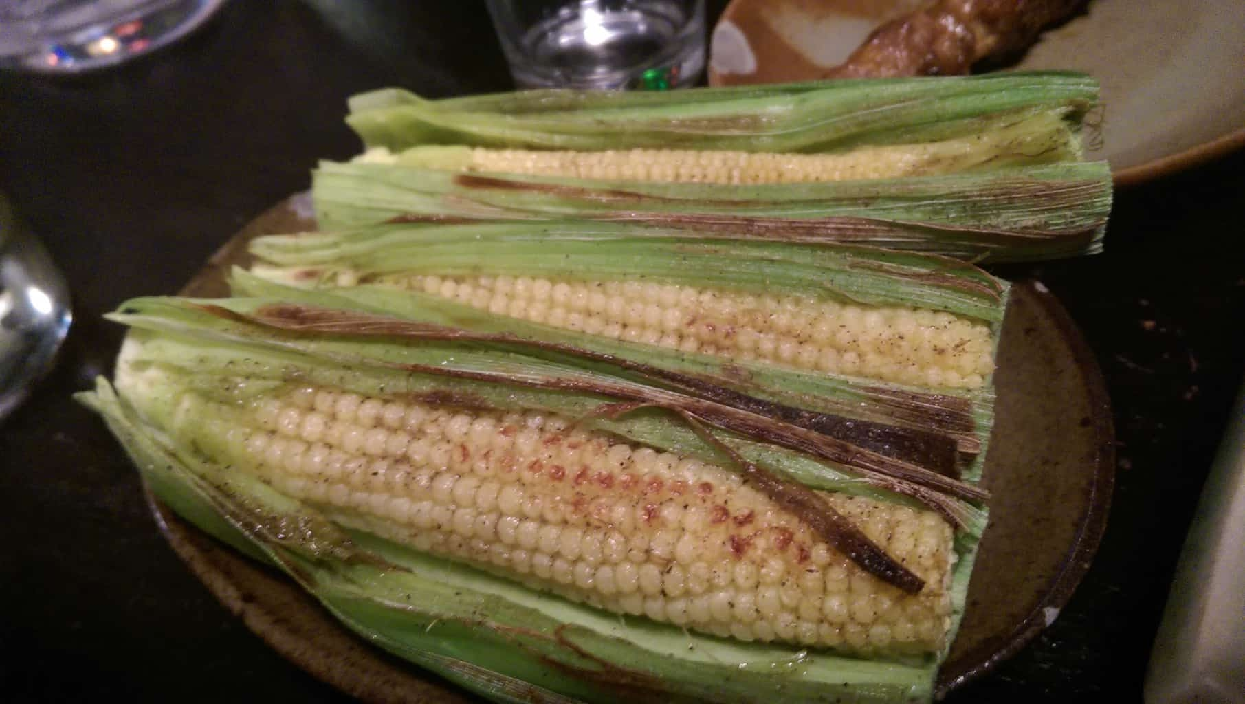Grilled baby corn (NT$90)