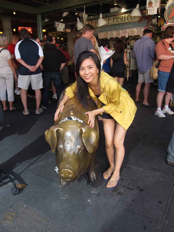 rachel the pig seattle
