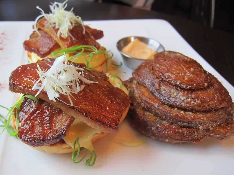 braised pork belly eggs benny