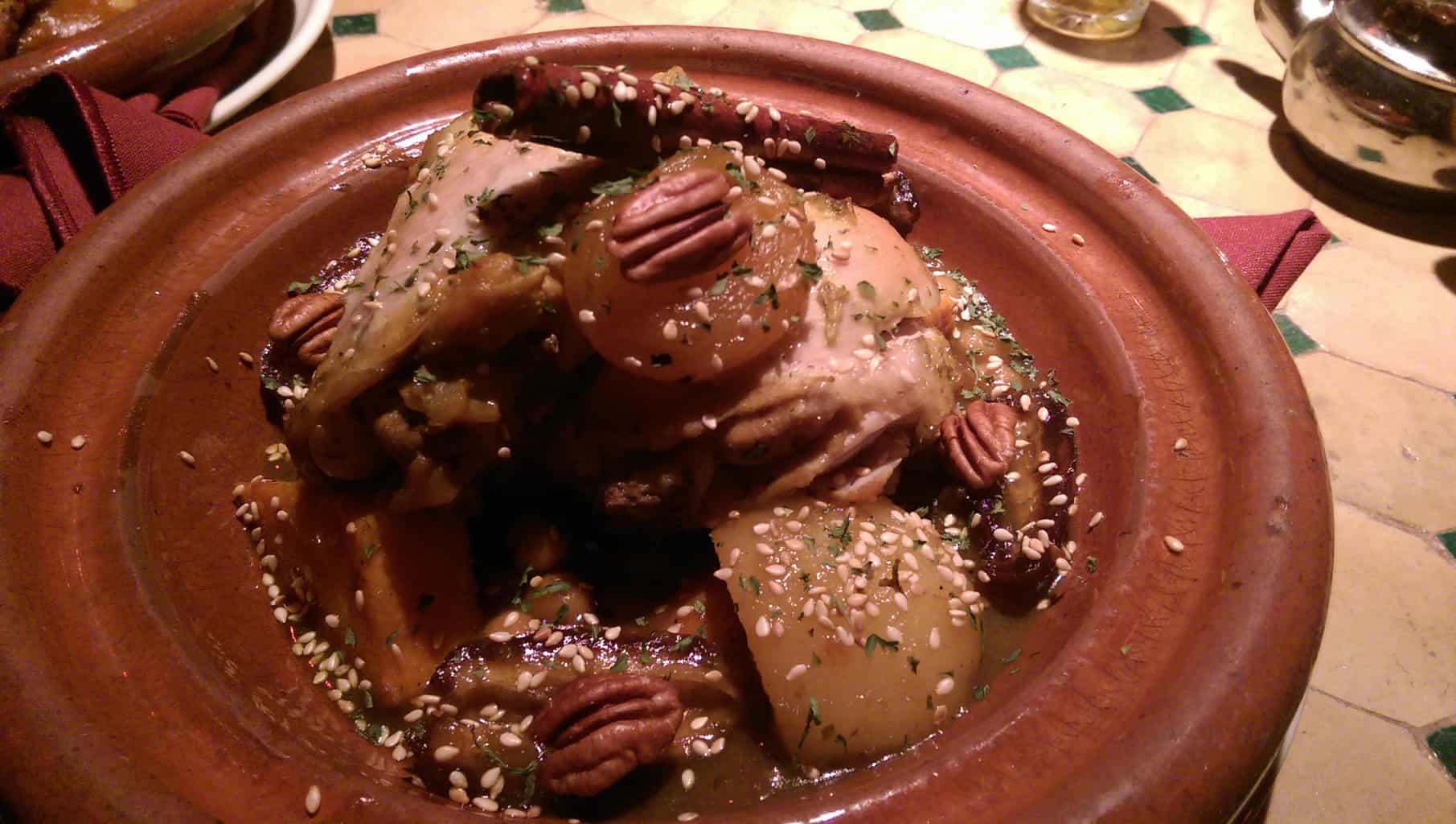 tmar tajine with chicken thigh
