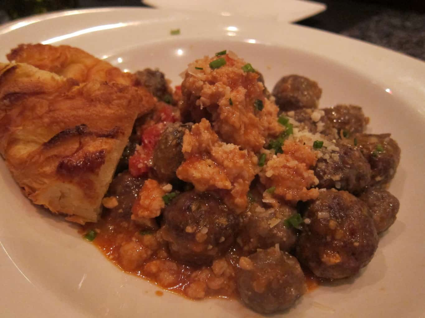 house made veal meatballs