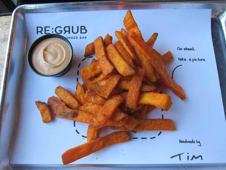 sweet potato fries with spicy aioli