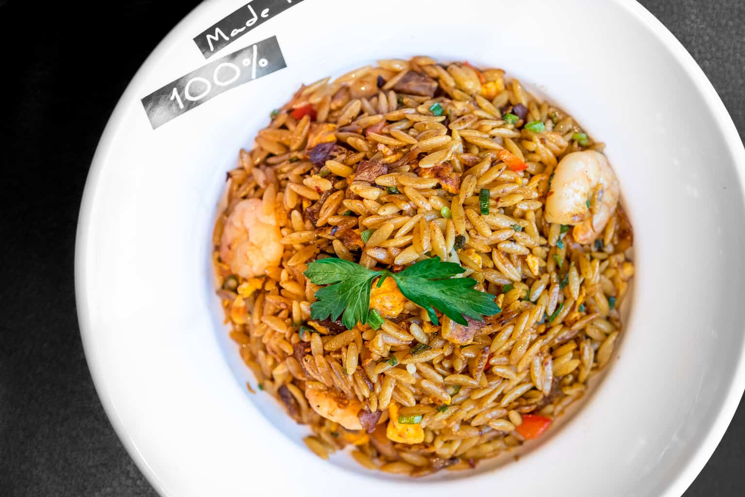 XO sauce stir fried Orzo