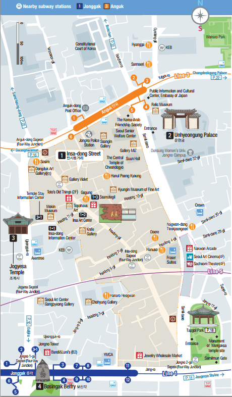 insadong map
