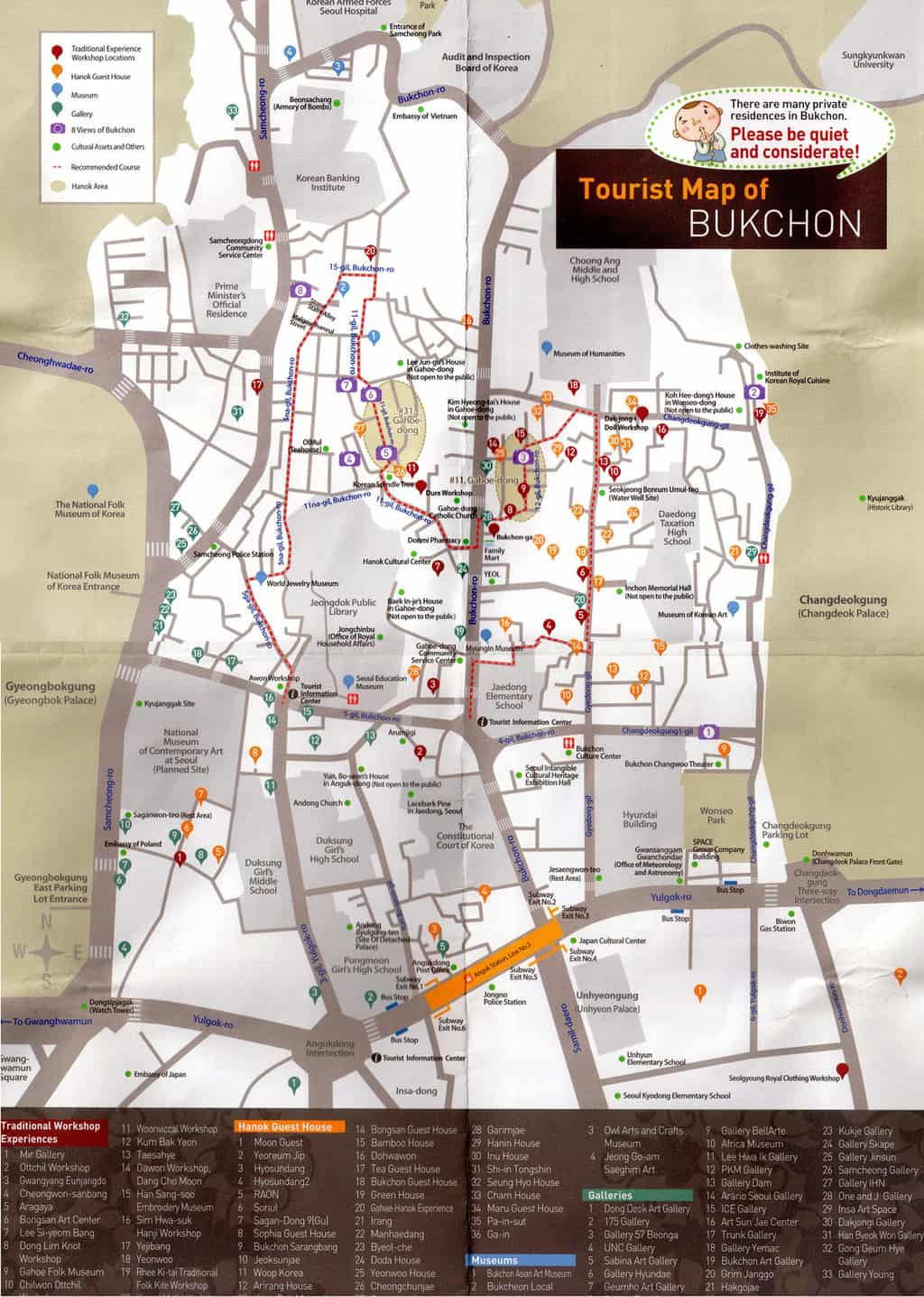 Map of Bukchon