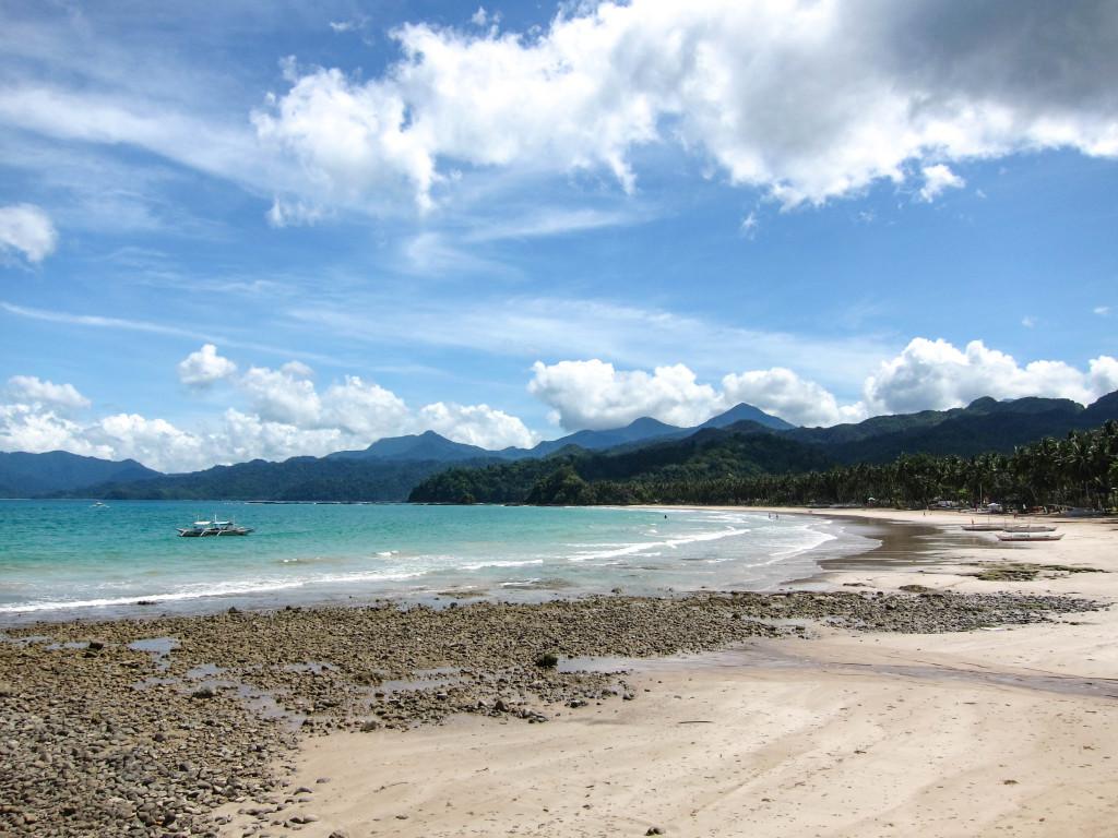 Beach resort besides Sabang boat terminal, Palawan Philippines