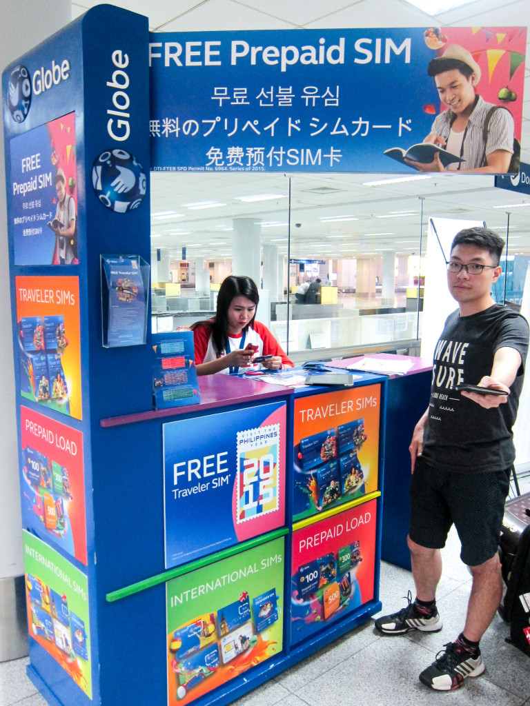 SIM Card Booth manila airport