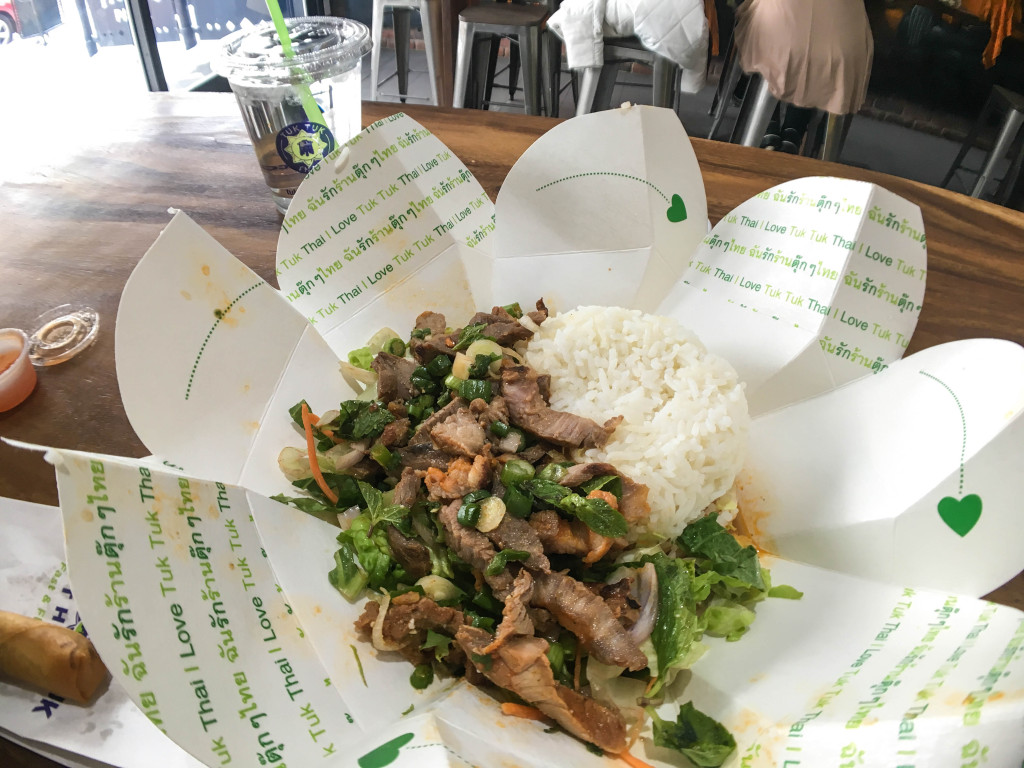 Moo Moo Lemon (Moo Nam-Tok) from Tuk Tuk Thai, Calgary