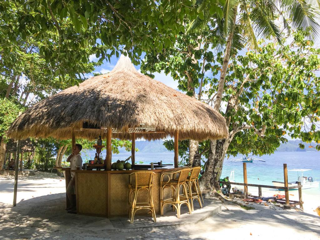 Bar at Entalula Island in El Nido, Palawan, Phlippines