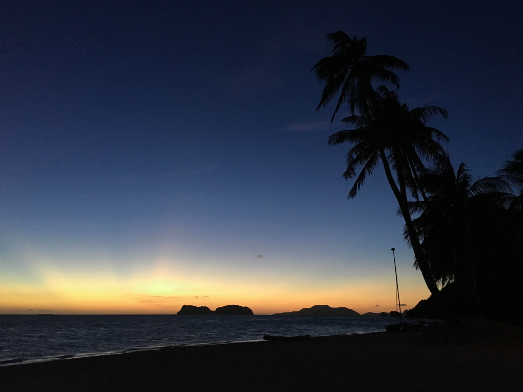 Night sky at Pangulasian, El Nido, Palawan, Phlippines