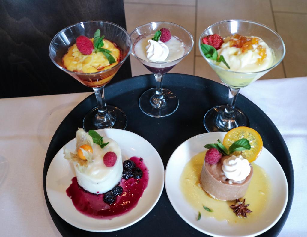 Desserts at Pampa Brazilian Steakhouse, Calgary, Canada