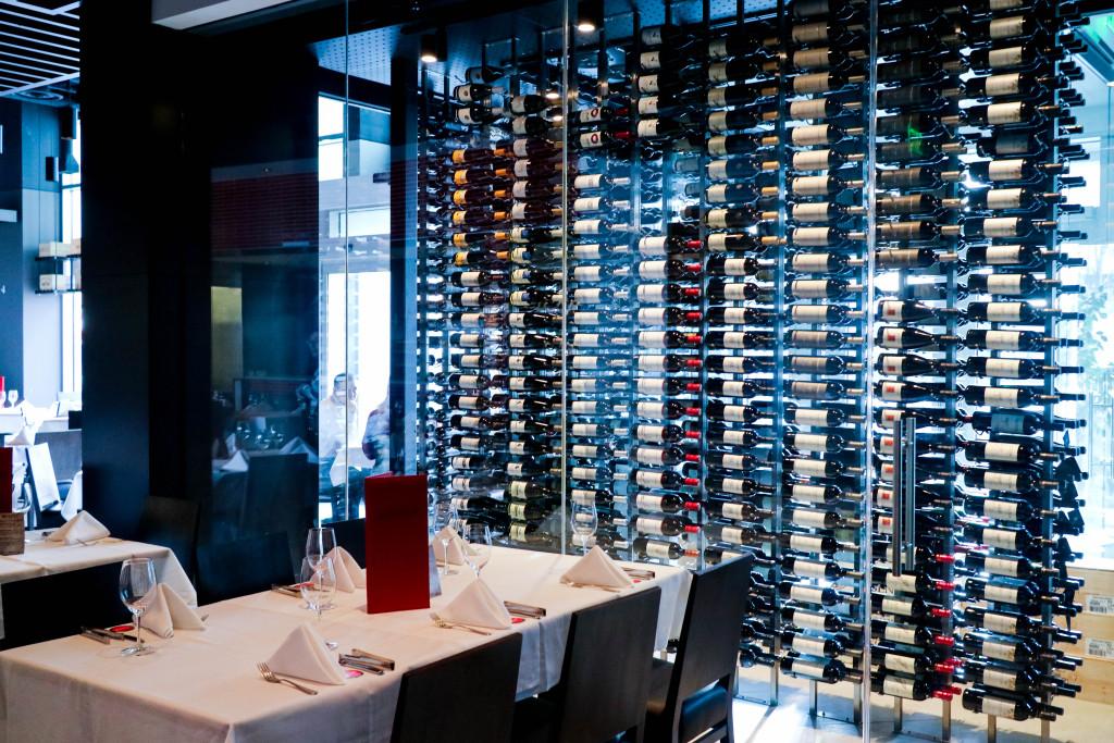 Wine room at Pampa Brazilian Steakhouse, Calgary, Canada
