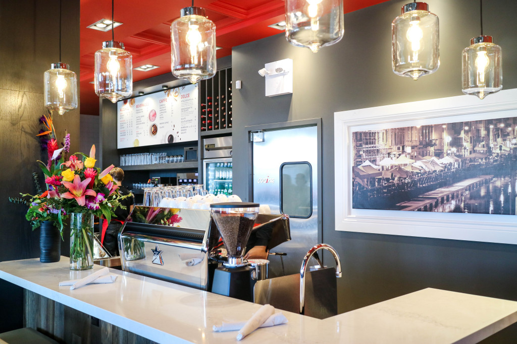 Coffee kiosk at Via Cibo, Calgary, Canada