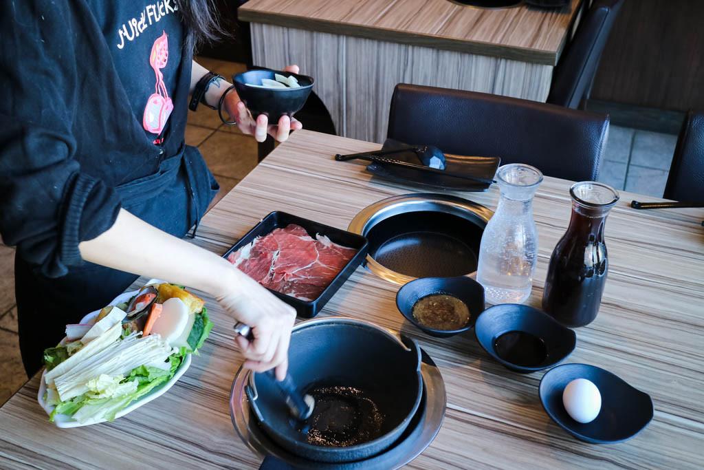 Sukiyaki Hot Pot from Centre Street Japanese Hotpot, Calgary, Canada
