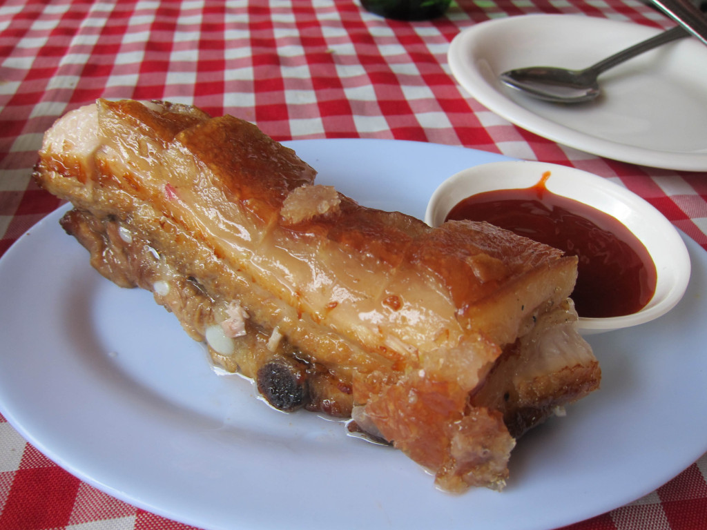 Lechon kawali from Tabing Dagat restaurant at Roxas, Palawan, Philippines