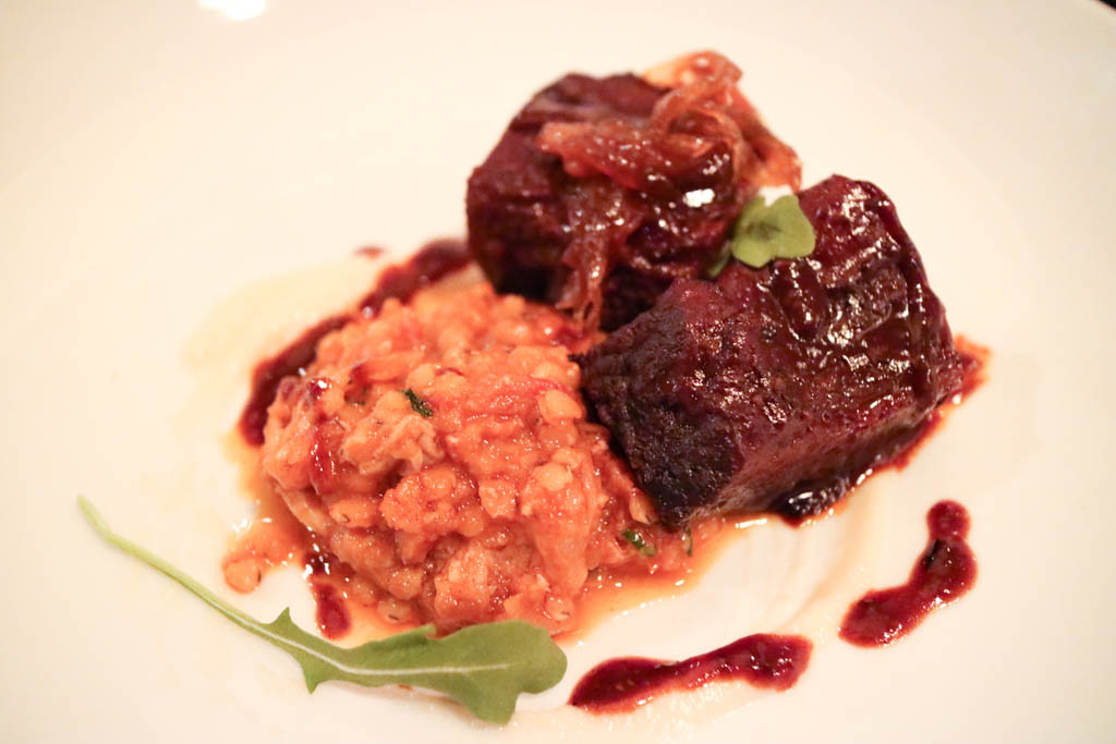 Bison short rib from Alloy, Calgary, Canada