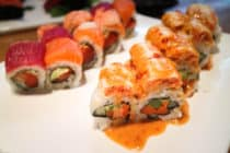 Sushi rolls at Kabuku, Calgary, Canada