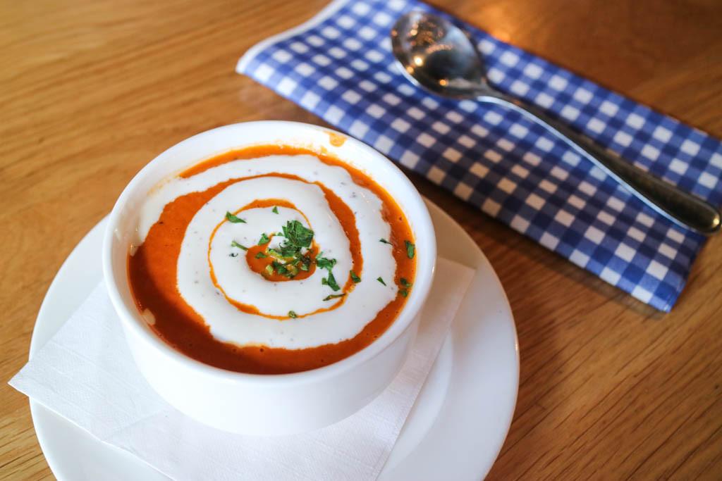 Tomato soup from Wurst, Calgary, Canada