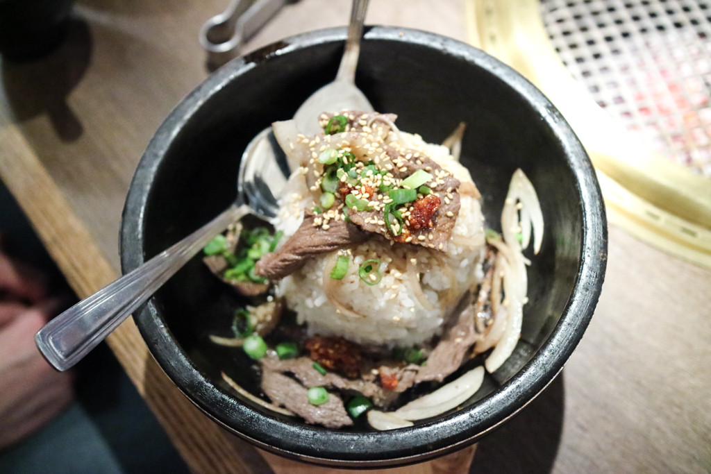 Sukiyaki bibimbap from Gyu Kaku, Calgary, Canada
