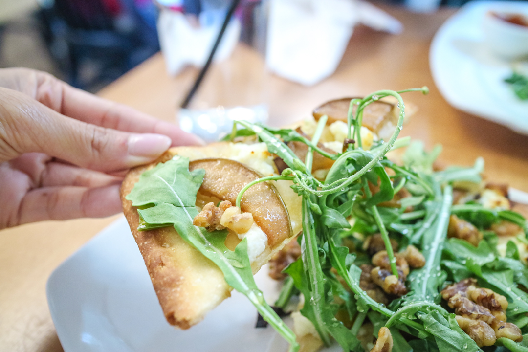 Peppered pear flatbread from The Daily Calgary