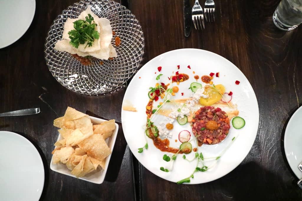 Tuna poke & beef tartare from Workshop Kitchen & Culture Calgary