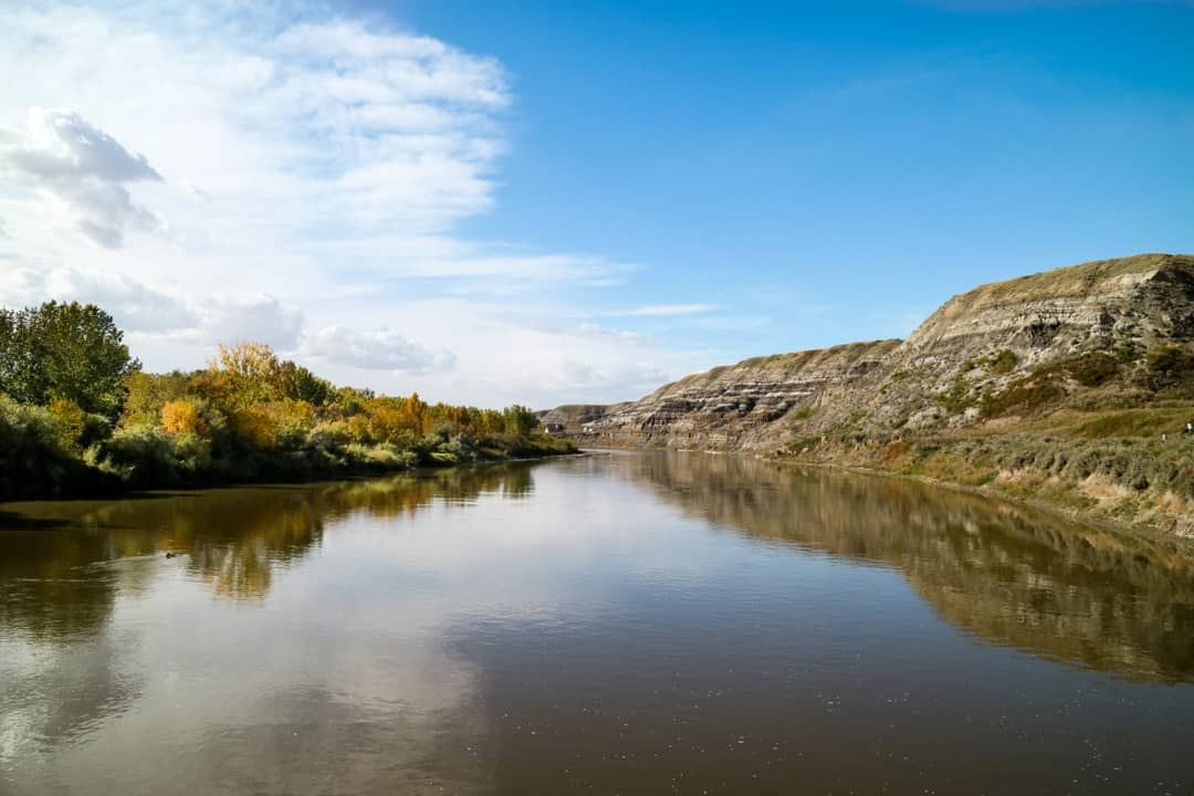 Red Deer River in Canadian Badlands
