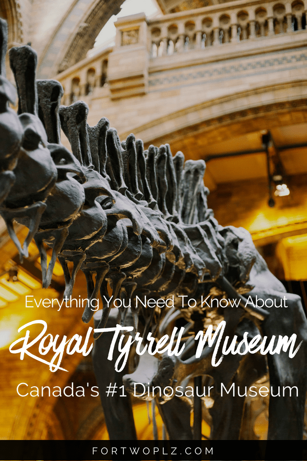 Are you a dino fan? Then you must visit Royal Tyrrell Museum when road tripping to Drumheller, Canada. This is Canada's only museum dedicated to palaeontology research. Click through to find out the top things to do and see there. #alberta #drumheller #Canada #roadtrip #travelcanada #travelguide #tripplanning #traveltips #itinerary #thingstodo #traveldestinations #summertravels #adventure #adventureseeker #bucketlist #adventuretravel