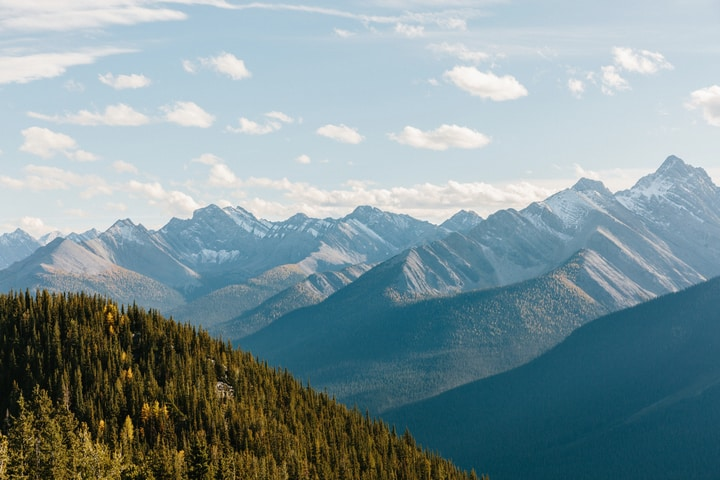The view from Banff Gondola Summit
