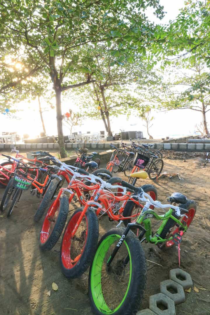 Renting Bike on Gili Air Lombok Indonesi
