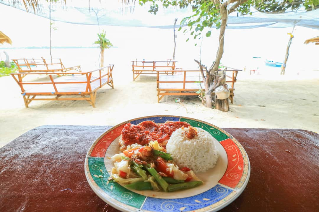 Indonesian food at Gili Air Lombok Indonesia