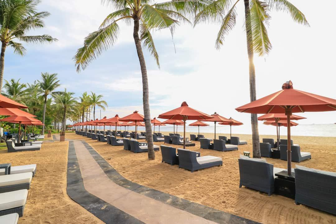 Private beach at St Regis Bali