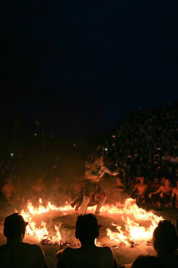 Kecak Fire Dance at UluwatuTemple Bali Indonesia
