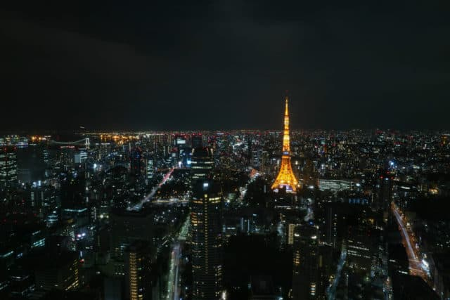 First Time in Tokyo Tower Night