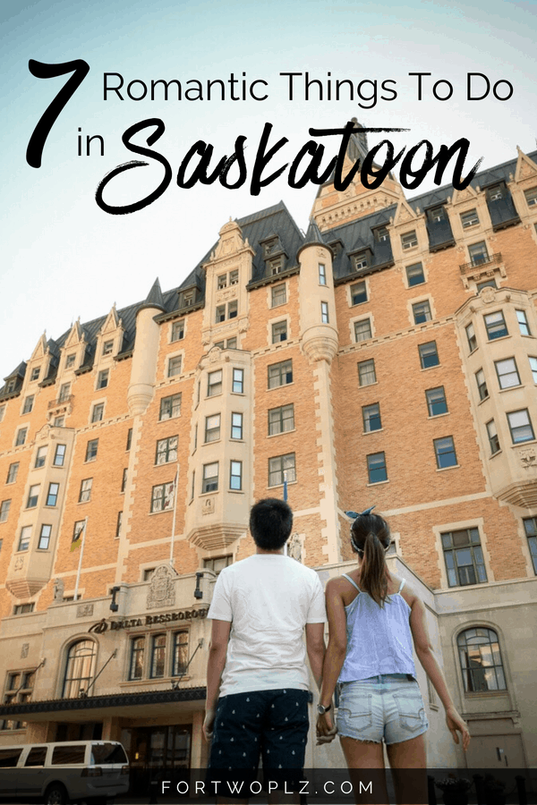 Saskatoon, Canada is a fun summer destination for a romantic getaway! There are so many unique and romantic things to do for couples. Click through to find out all the date ideas you can do at this Canadian destination to make you fall in love all over again. #saskatoon #saskatchewan #Canada #newlyweds #couplestravel #honeymoon #honeymoontravel #romanticgetaway #travelcanada#travelguide#tripplanning#traveltips#itinerary#thingstodo#traveldestinations #summertravels #instagramspots
