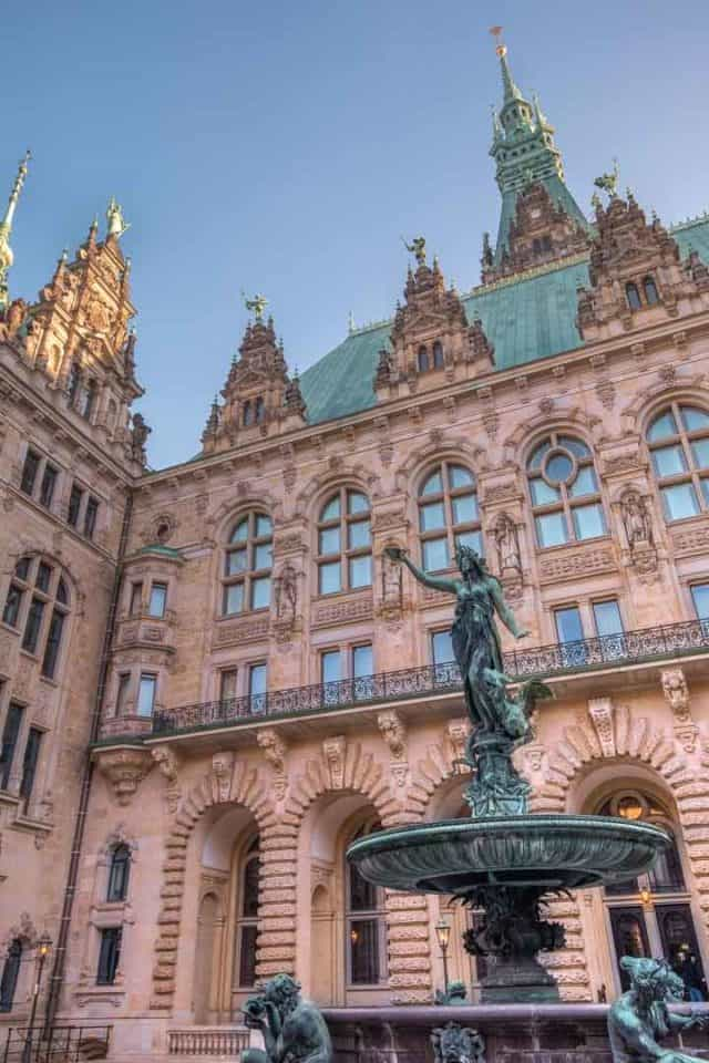 Hamburg City Hall Courtyard