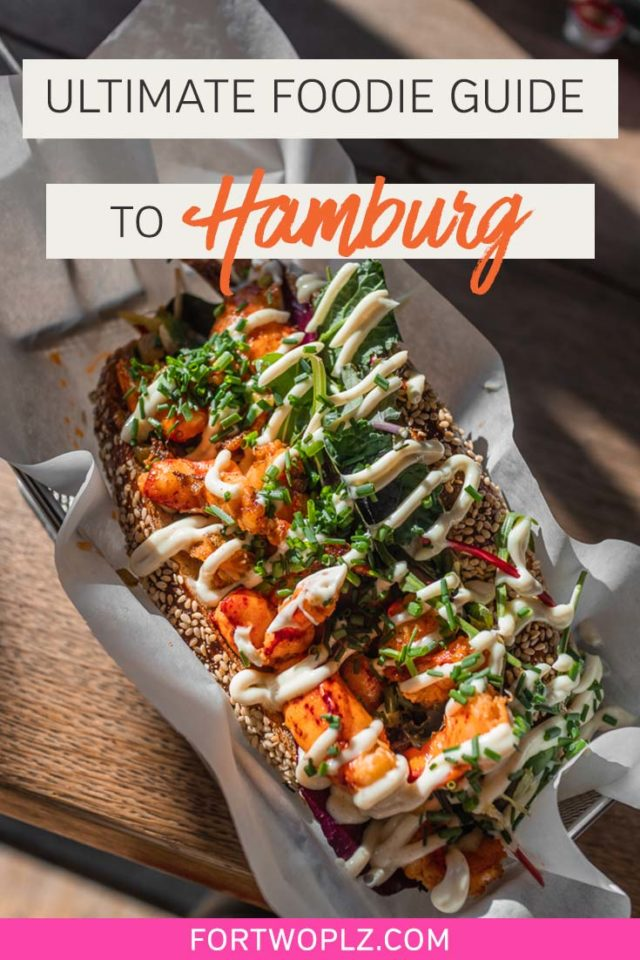 Planning a trip to Hamburg, Germany? Save yourself from mediocre currywvrst with this foodie guide to the best food and drink in Hamburg. We cover the best places to eat, top michelin star restaurants, trendy coffee shops, local markets and traditional german dishes to try in this port city! #foodguide #foodtravel #culinarytravel #hamburg #germanytravel #europe