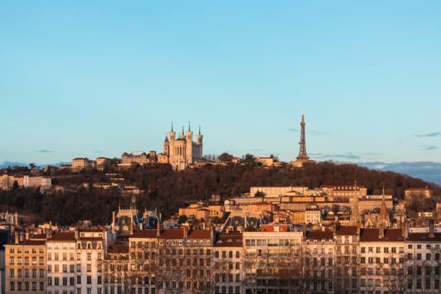 View of Fourvière in Lyon
