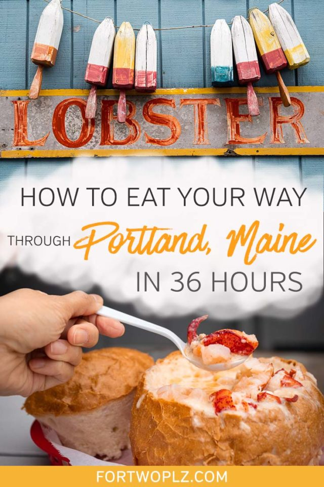 Planning a Maine road trip? The city of Portland Maine offers a wealth of things to do for foodies. This itinerary shows you exactly how to eat your way through Portland Maine in 36 hours. Click to discover all the best places to eat in Portland and all the best food you should try! #newengland #usatravel #summertravel #foodguide