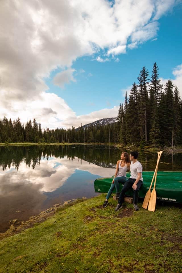 Kayak or canoe at Island Lake Lodge