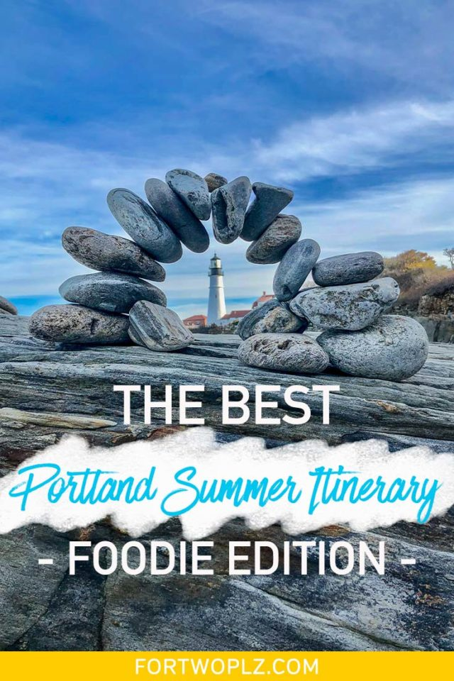 Spending your summer vacation in Portland Maine? The city is a foodie's heaven filled with so many seafood restaurants and craft breweries. Follow this itinerary to find the best restaurants, places to eat, bars to drink at, and things to do in Portland Maine! #newengland #usatravel #summertravel #foodguide