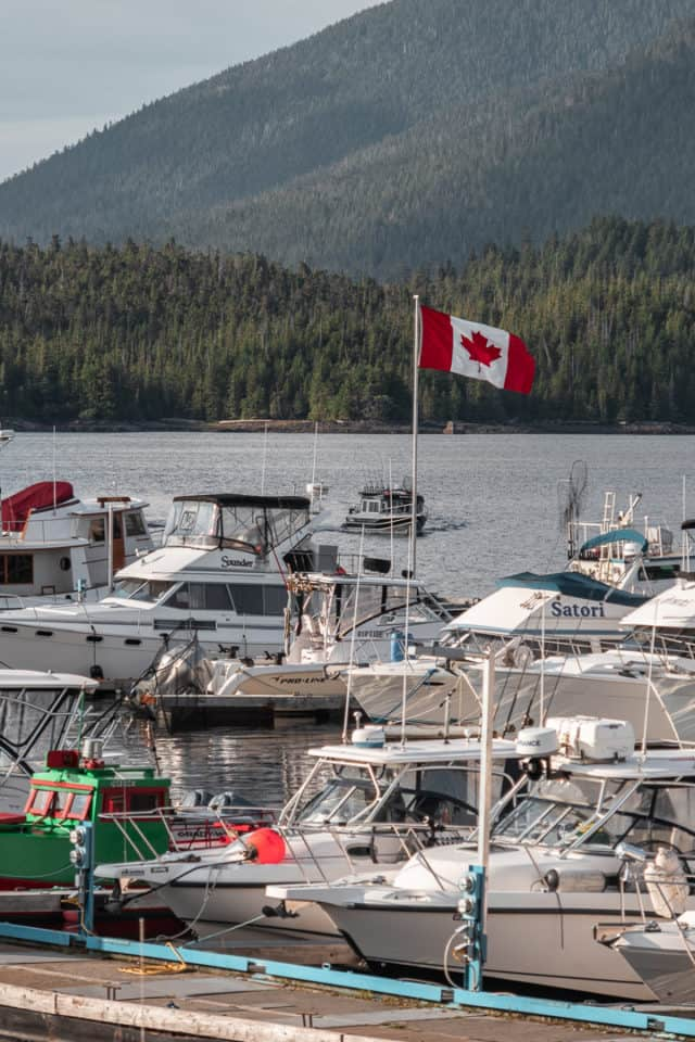 Cow Bay Waterfront District in Prince Rupert BC