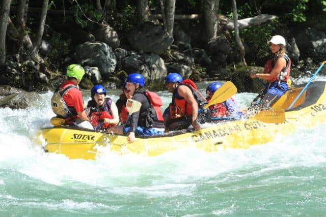 Squamish Cheakamus white water rafting