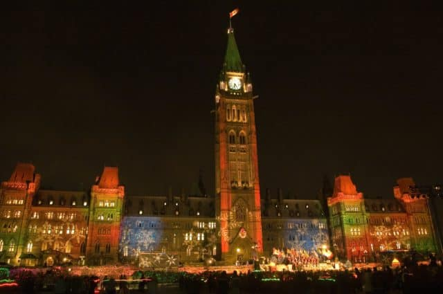 Christmas Lights across Canada Ottawa