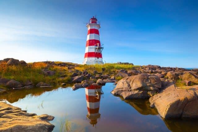 Western Light Brier Island Nova Scotia Scenery Lighthouse