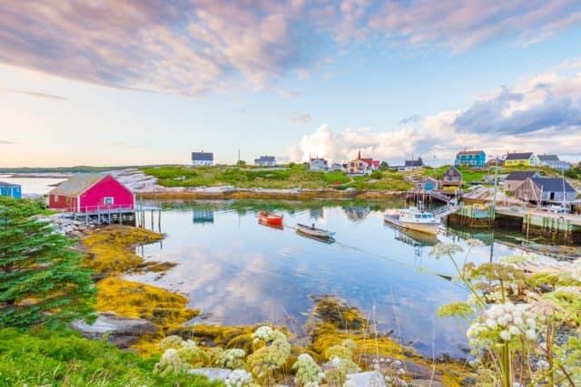 peggys cove fishing village Nova Scotia