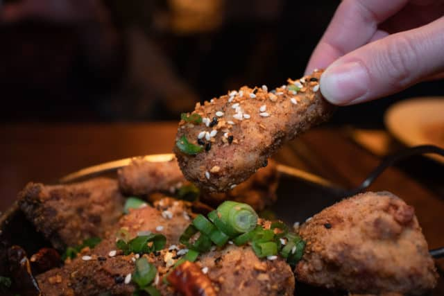 Sichuan chicken wings from Skinny Duke's Kelowna restaurant